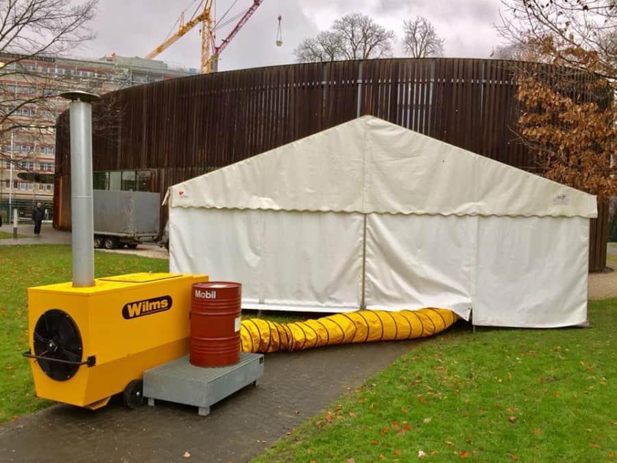 Leistungsstarke Ölheizung oder Heizpilz / Wir sorgen für ein warmes Zelt !