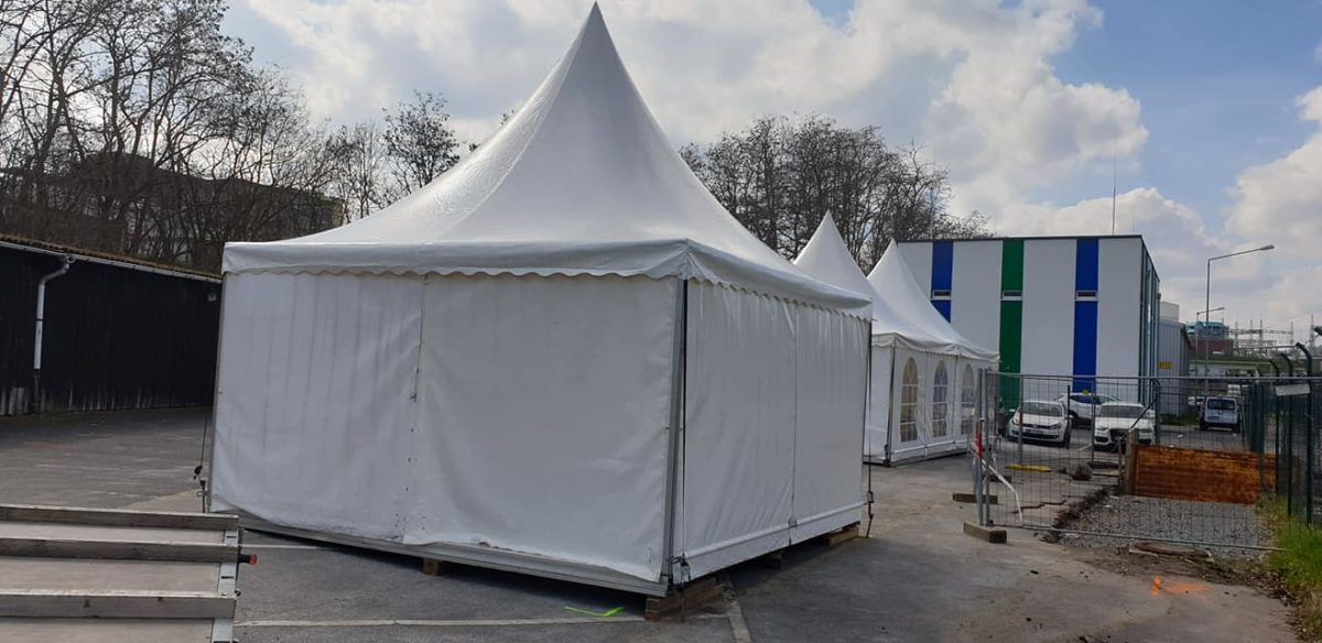 Corona Schnelltest / Zelte für Schnelltests